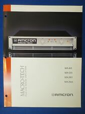 AMCRON CROWN MA-601 MA-1201 MA-2401 MA24X6 SALES BROCHURE MACRO TECH ORIGINAL