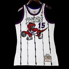 100% Authentic Vince Carter Mitchell Ness Raptors Home Jersey Size 40 M