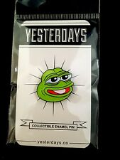 """Collectible PEPE PIN, Boy's Club By Matt Furie & Yesterday's, 1.25"""""""