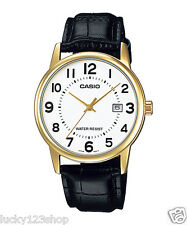 MTP-V002GL-7B White Casio Men's Watch Genuine Leather Band Water Resistant New