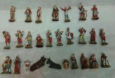 27 nativity shepherds crib pastori landi 6 cm plastica moranduzzo italy