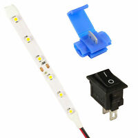 Model Railway LED Strip Lights Lamps Kit Switch + Connector All Colours 12V