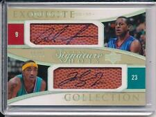 ANDRE IGUODALA J.R. SMITH 04-05 EXQUISITE DUAL SIGNATURE SHOTS AUTO 23 ! /25