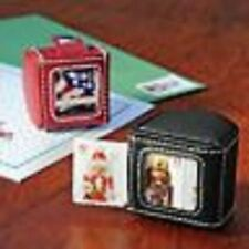 LEATHER STAMP DISPENSER RED