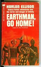 EARTHMAN GO HOME by Harlan Ellison, rare US sci-fi robot cover pulp vintage pb
