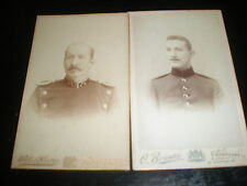 2 Cdv old photographs military soldiers Germany c1890s