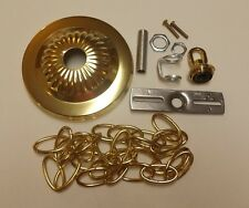 "5"" BRASS PLATED CANOPY KIT WITH 3' CHAIN FOR CHANDELIERS,LIGHTS NEW 54606JQ"