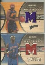 2005-06 UD Hardcourt - BEN WALLACE - Wood Game Used Jersey - PISTONS #d/99