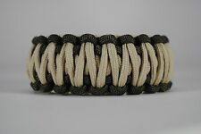 550 Paracord Survival Bracelet King Cobra OD Green/Desert Sand Camping Tactical
