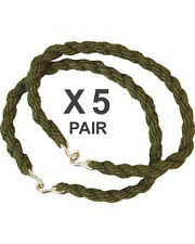 5 x Pairs Trouser Twists Bungee Twist Elastic Leg Ties Army Combat Military Boot