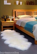 NEW Double Pelt LARGE Sheepskin Rug - Ivory - Genuine Real Australian - 6' x 2'