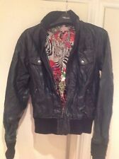 Ladies Jacket Black Size 8