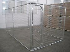 ALEKO Dog Kennel 7 1/2' x 7 1/2' x 6' DIY Box Kennel Chain Link Dog Pet System