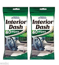 2x 40 CAR PRIDE INTERIOR DASH BOARD CLEANER WIPES RESEALABLE PACKING