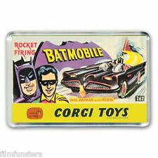 RETRO NOSTALGIA -  BATMAN CORGI BATMOBILE TOYS ARTWORK - JUMBO FRIDGE MAGNET