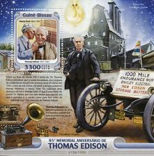 Guinée-bissau 2016 neuf sans charnière thomas edison 85th memorial anniv 1v s/s henry ford