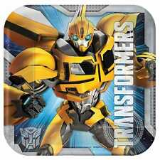 "8 Transformers Bumble Bee Childrens Birthday Party 7"" Paper Dessert Plates"