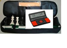 Tournament Chess Pieces Vinyl Board Bag Digital Clock Timer DGT 960 Set NEW