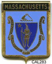CAL283 - PLAQUE DE CALANDRE AUTO - MASSACHUSETTS
