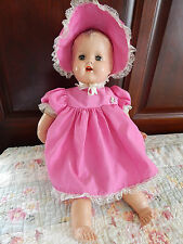 Vintage 1949 Schilling Talking Baby Doll Hard Plastic  Eyes Open Close Teeth