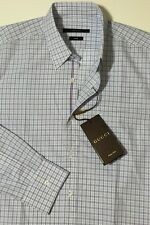 NWT GUCCI Men's 353361 ECO POPELIN ICONIC SELVAGE L/S DRESS SHIRT 39/15.5 SMALL