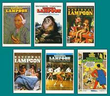 6 National Lampoon Magazine Covers Postcards! New!