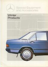 Mercedes Benz Special Equipment Winter Products 1985 UK Market Sales Brochure