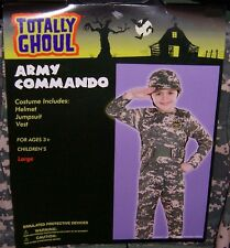 TOTALLY GHOUL BOY'S ARMY COMMANDO HALLOWEEN COSTUME NWT!  SIZE LARGE
