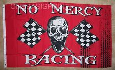 3'x5' PIRATE NO MERCY RACING FLAG JOLLY ROGER SKULL BANNER CARS CHECKERED 3X5