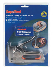 Supatool Heavy Duty Staple Gun CON 500 PUNTI METALLICI + 1000 6mm e 1000 graffe 8mm