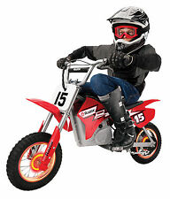 Razor MX400 Dirt Rocket 24V Electric Toy Motocross Motorcycle Dirt Bike, Red NEW