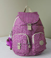 Kipling BP3839 Chevron Magenta Print Firefly Small Backpack