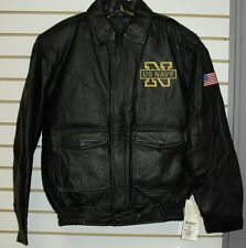 U.S. NAVY Coat Jacket Leather sz Mens XS / Small nwt NEW has tags SALE!! $150
