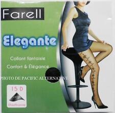 Collants NOIR Taille 3 / L - 15 D pour femme FARELL lycra sexy tights black #C53