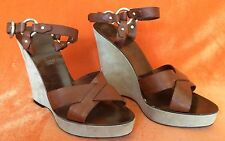 BALLY Slides Wedge Sandals Mules Shoes (Size - 9 1/2 US)