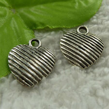 free ship 64 pieces tibet silver heart charms 23x20mm #3989