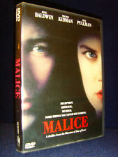 Malice (DVD 1998) Nicole Kidman•Mint Disc•No Scratches•Rare Release•Out-of-Print
