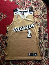 John Wall Authentic Gold Washington Wizards Throwback Jersey Bullets Alternate