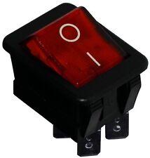 Interrupteur commutateur contacteur bouton à bascule rouge DPST ON-OFF 16A/250V