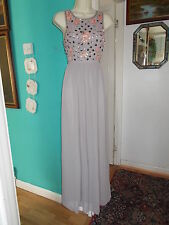 New Frock And Frill Beige Evening Long Elegant Dress UK 8,  RRP 90.00