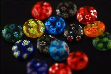 10ps Colorized Glass Flower Millefiori Beads DIY Bracelet Jewelry Findings 12mm
