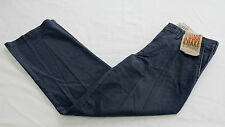 DOCKERS Mens Blue D2 Straight Flat Front 5 Pocket Worn Chino Pants NWT 30 x 30