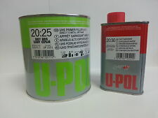 2K Primer Car Paint U-Pol High Build 1.25lt kit GREY -UK Mainland Delivery