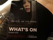 PROMOTIONAL FILM LISTINGS U.K. CINEMA CINEWORLD 2016 . THE GIRL ON THE TRAIN