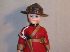 "Vintage RCMP  Canada Mountie Police Doll 7 1/2"" Made in England"