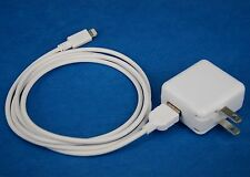 12W Foldable AC Wall Charger+6ft 2M USB cable WHITE for iPad Pro Air 2 4 mini 3