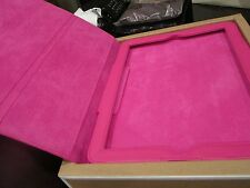 Pottery Barn Teen Pink Leather tablet case for  iPad 2 new in Box