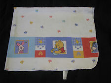 VINTAGE WINNIE THE POOH COTTON FLANNEL BABY RECEIVING BLANKET PIGLET EEYORE