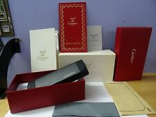 Must de Cartier eyeglass case box w/ brochure,books, cloth Complete 59*18 SOL