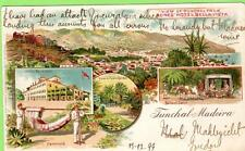 Early Gruss Aus Funchal Madeira Portugal Jones' Hotel  Bella -Vista used 1899